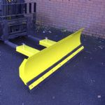 Snow Plough Fixed - Steel Wear Strip and Rubber Blade Insert - 1525mm